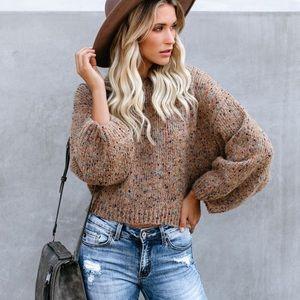 Splash of Color Speckled Knit Sweater